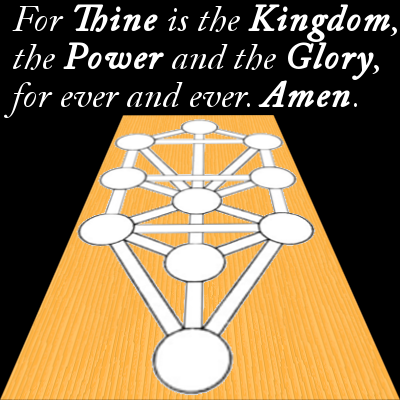 For Thine is the Kingdom, the Power and the Glory, For ever and ever. Amen.